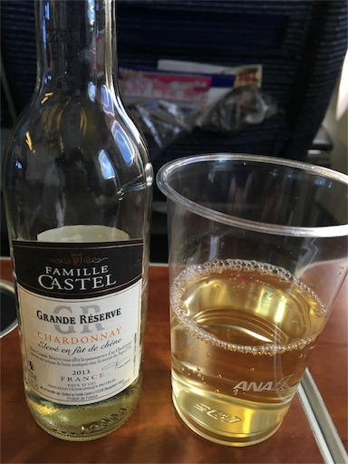 ANAプレミアムクラスの白ワイン