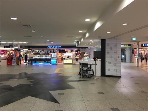 新千歳空港の2階インフォメーション