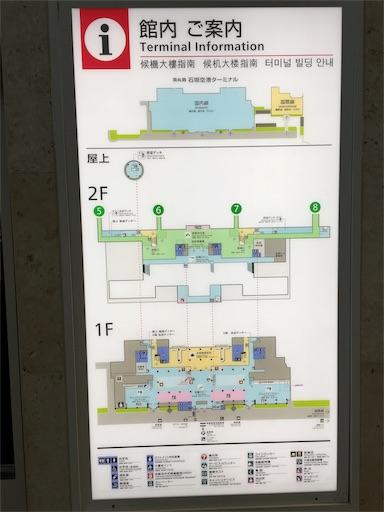石垣空港の案内図