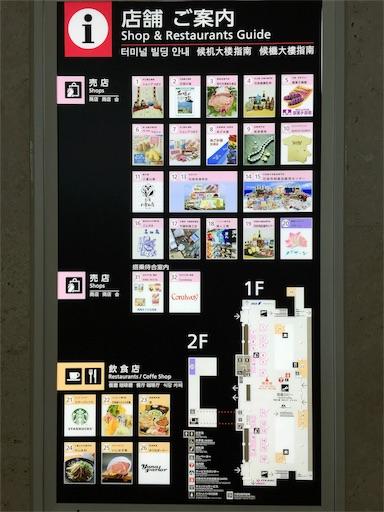 石垣空港のショップ地図
