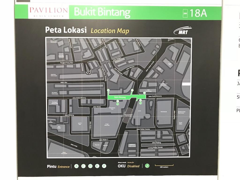 ブキッ・ビンタン駅 地図