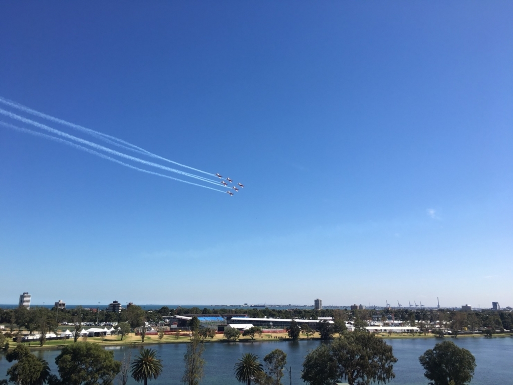F1オーストラリアGP 航空ショー