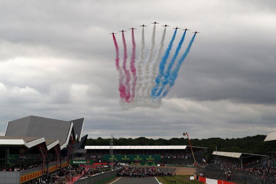 F1イギリスGP 航空ショー