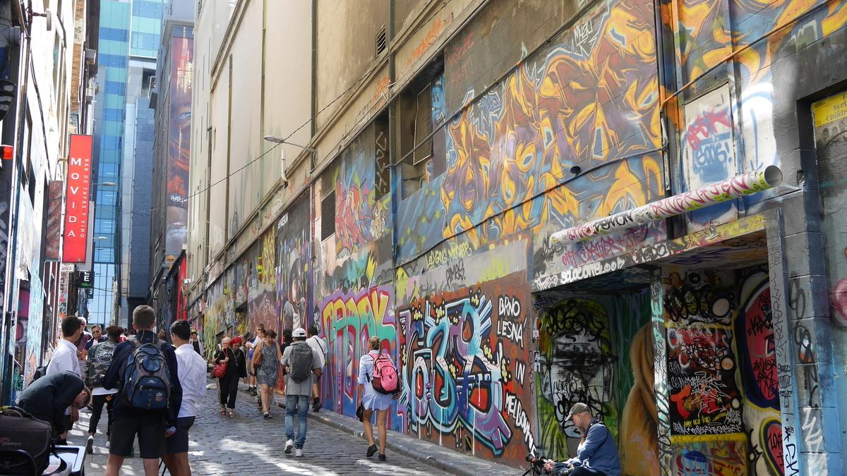 メルボルンのアートストリートHoiser Lane