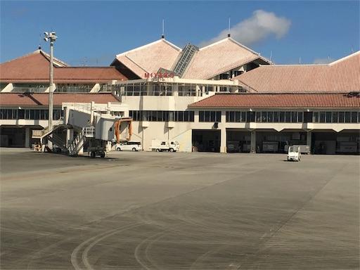 機内からの宮古空港