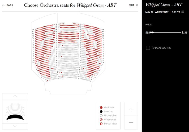 ABT チケット 画面
