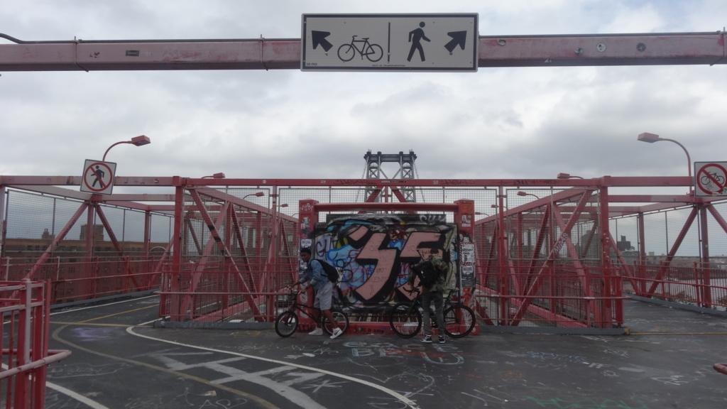 ウィリアムズバーグ橋 自転車