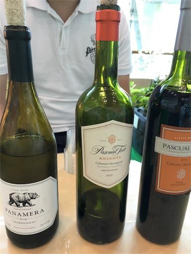 那覇空港のワイン試飲会