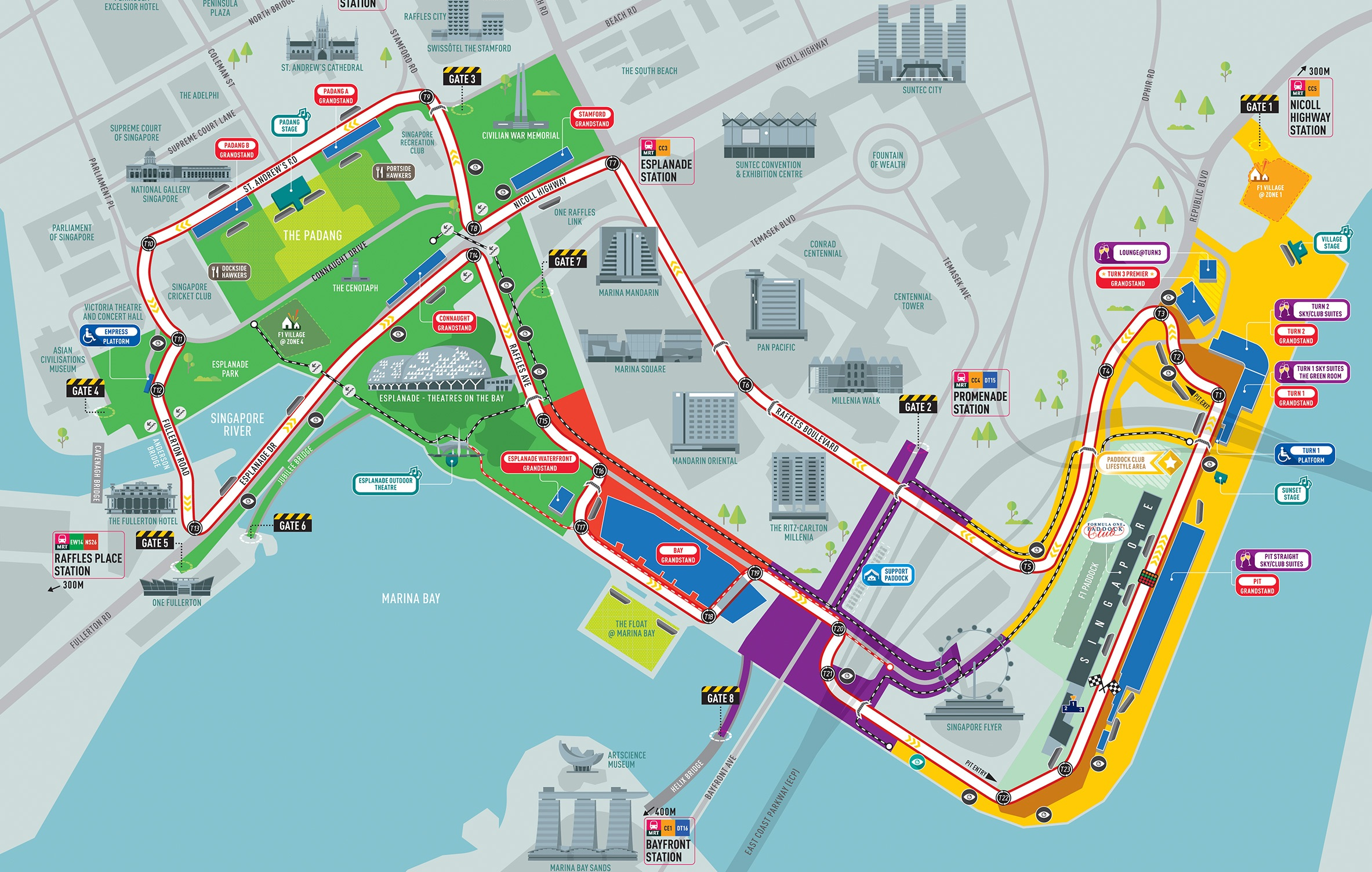 F1シンガポールGPのコース