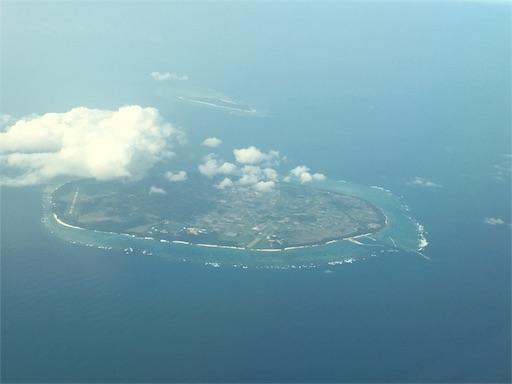 空からの多良間島