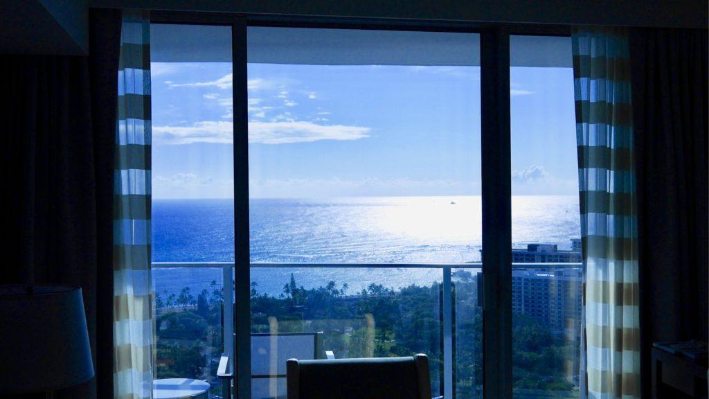 リッツカールトンワイキキ34階からの景色