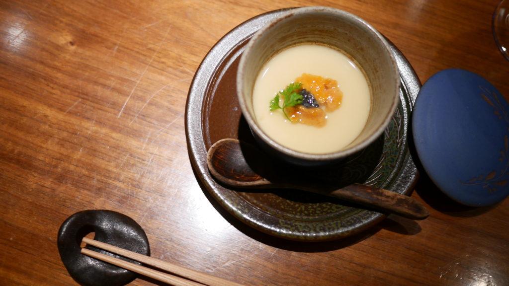リッツカールトン沖縄 喜瀬 冷製茶碗蒸し 雲丹