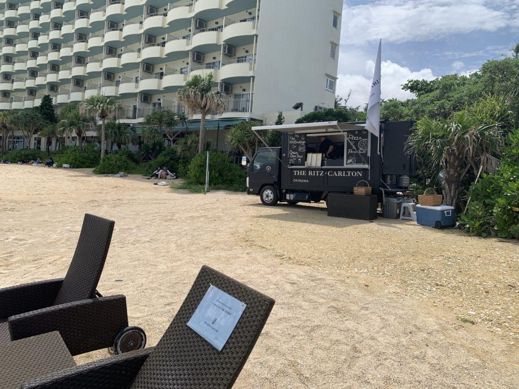 リッツカールトン沖縄のビーチ