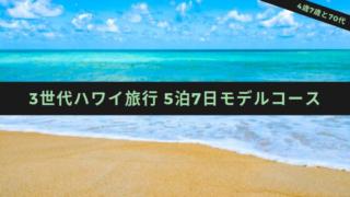 3世代ハワイ旅行モデルコース