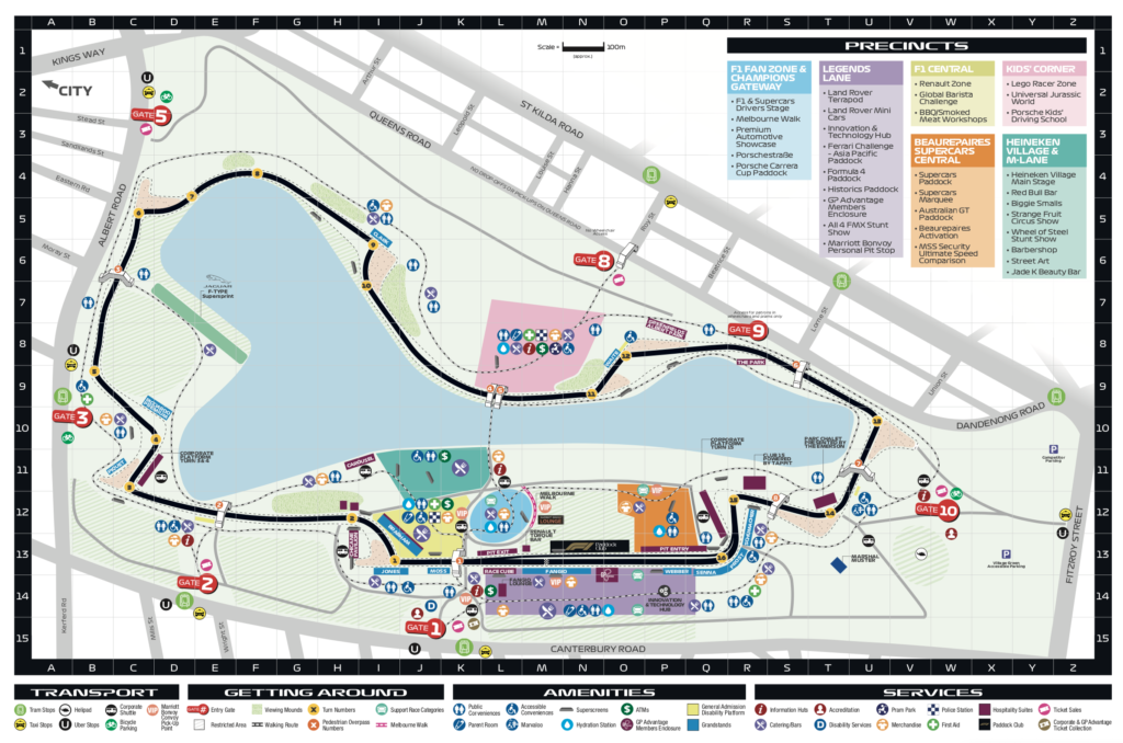 F1オーストラリアGP マップ