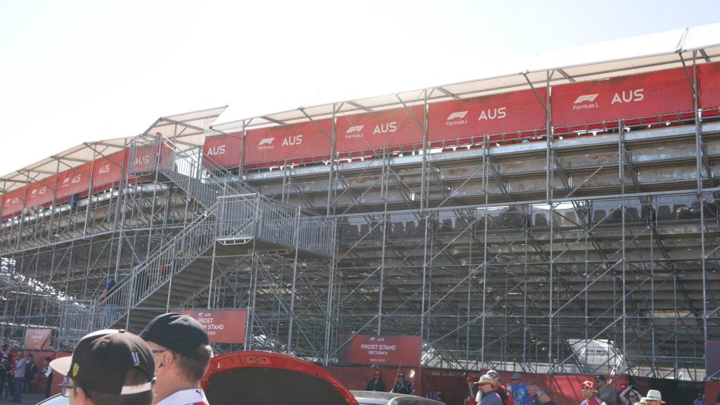 F1オーストラリアGP プロストスタンド