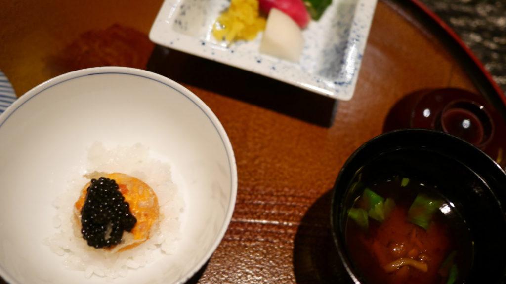 リッツカールトン京都 水暉 卵黄の天麩羅御飯